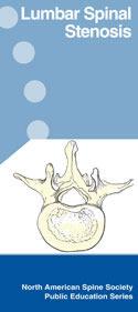 Lumbar Spinal Stenosis pamphlet